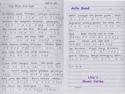 Not angka pianika lagu matahari terbenam; Not Angka Lagu Titip Rindu Buat Ayah Lhia S Music Notes