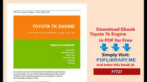 Toyota 7k Engine - video dailymotion