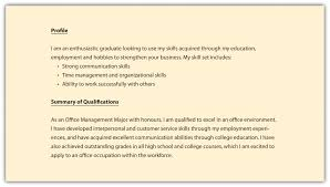 Gallery Of R Sum S And Cover Letters Sample Profile For Resumes