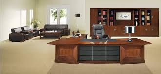 executive office desk wood contemporary. Awesome Classical Wooden Office Desk Combined With Executive Chair And Modern Stainless Table Lamp Also Large Cabinet Wood Contemporary E