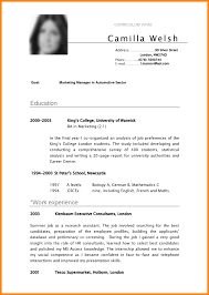 Cv Examples Student Pdf College Student Resume Template Word Home