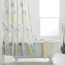 grey and yellow shower curtain. daizy shower curtains grey and yellow image 1 curtain c