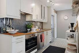White Kitchen Laminate Flooring Kitchen Comely Minimalist Kitchen With Gray Mdf Cabinets Also