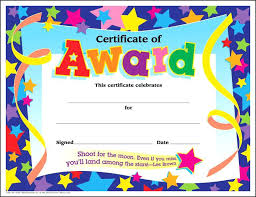 Certificate Of Award Templates For Awards Certificates Template Word ...