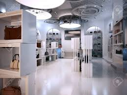 luxury store interior design art deco style with hints of
