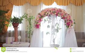Wedding Arch Decorations Wedding Arch With Flowers Indoor Stock Video Video 43531517