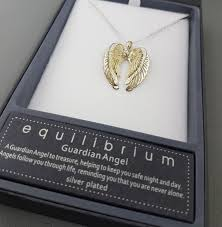 equilibrium guardian angel wings necklace previous next