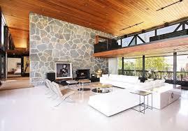 natural stone decor living room wall design ideas