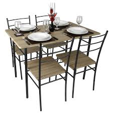 Cecilia 5 Piece Modern Dining Table And Chairs Set
