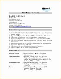 Resume Format For Experienced System Administrator Best Of Sample