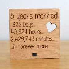 wood gift ideas 5th wedding anniversary photo 1