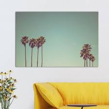 palm tree wall art canvas