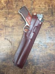 brown leather holster ruger mk mark i ii iii iv with 6 7 8