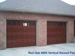 red garage door simulated wood garage doors reds garage doors thunder bay