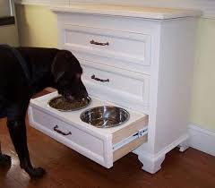 modern pet furniture. it can get pretty messy leaving your dogu0027s food and water bowl just laying around on the ground so why not make most out of space by turning modern pet furniture