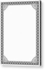white certificate frame black and white certificate frame border acrylic print