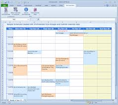 Schedule Table Maker 004 Template Ideas Excel Schedule From Data Free Templates