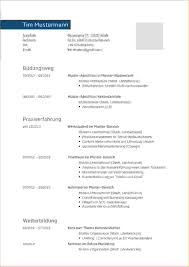 Lebenslauf Muster Word Proposal Templated