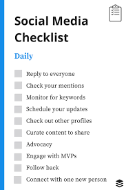 a recruiter s social media checklist daily social media checklist