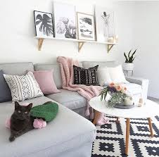 living room amusing how to decorate a living room grey sofa white pink black cushions