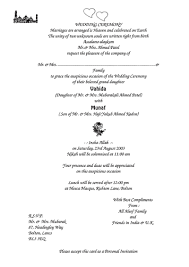Awesome Muslim Wedding Invitation Templates Picture