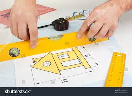 Development Drawings Tools On Graph Paper Stock Photo Edit