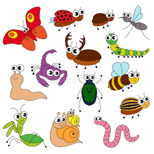 small book template cute small insects set the collection of coloring book template