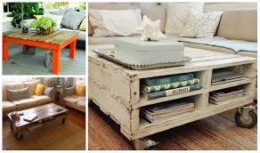 5 diy wooden pallet coffee tables