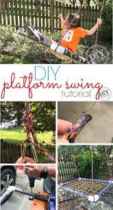 perfect for kids diy platform swing tutorial diyswing platformswing sensoryswing