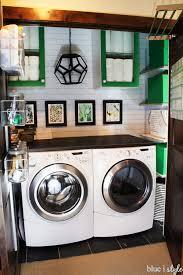 beautiful laundry closet