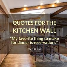 funky kitchen wall quote decals
