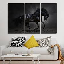 on wall art pictures of horses with andalusian horse multi panel canvas wall art elephantstock