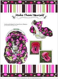 sewing patterns for car seat covers of the universal infant cover pattern by free