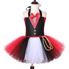 Fancy Top Design For Girl Us 14 7 40 Off Circus Ringmaster Tutu Dress Tulle Fancy Girl Performance Dress Kids Birthday Party Dresses For Girls Halloween Carnival Costume In