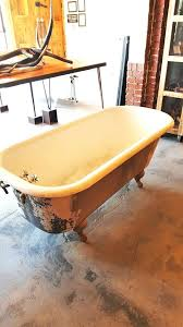 medium image for compact porcelain bathtub encore offers salvaged antique refinishing clawfoot vintage tubs soap