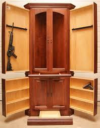 ... Amazing Decoration Hidden Gun Cabinet Furniture Corner Hutch NJ  Concealment For Video Https Www ...