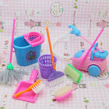 aliexpresscom buy 9pcs girl house doll accessories toy furniture cleaning kit set home furnishing funny vacuum cleaner mop broom tools from reliable tool accessories furniture funny