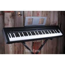 yamaha 88 key digital piano. yamaha p45b 88 key digital piano with power supply \u0026 sustain pedal in black