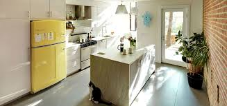 white fridge in kitchen. white fridge in kitchen e