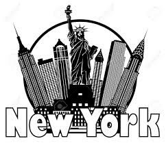 new york city clipart images black and white