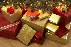 Image result for wrapped presents under tree
