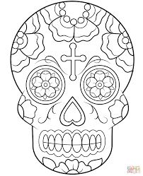 Calavera Sugar Skull Coloring Page From