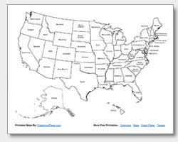 printable united states maps outline and capitals Map Of The United States With Names printable us map with state names map of the united states with names printable