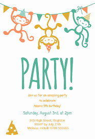 Kids Birthday Party Invites Templates Unique Childrens Party