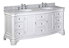 white double vanity. Exellent White Katherine 72inch Double Vanity CarraraWhite Includes White Cabinet With In
