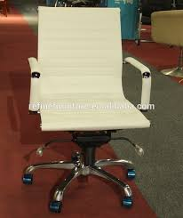china ribbed low back modern leather gold office chair with arm rf s075b