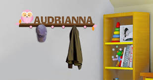 Personalized Kids Coat Rack Inspiration Personalized Owl Coat Racks Wall Decals Dezign With A Z