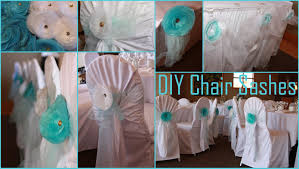 diy chair sashes blue tulle sashes
