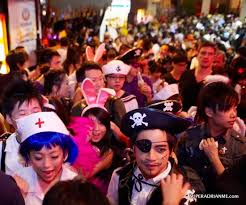 Charming Visitors To Hong Kong Can Enjoy Halloween This Year In Cosplay Costumes At  Colourful Costume Parties Lining The Streets Of Fashionable Lan Kwai Fong  Or ...