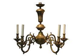 vintage brass chandelier